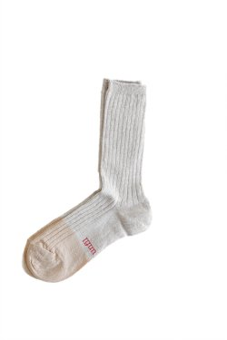 unfil(アンフィル) french linen thin socks  natural