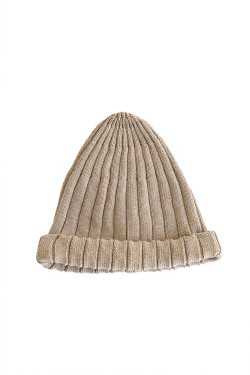 unfil(アンフィル) high twist cotton ribbed-knit beanie khaki