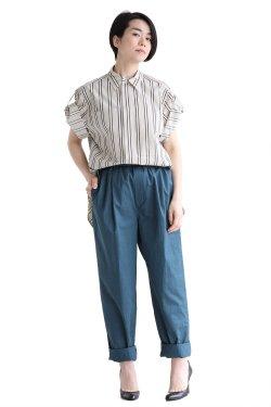 unfil(アンフィル)  washed egyptian cotton-twill shirt