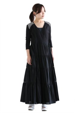 BORDERS at BALCONY(ボーダーズアットバルコニー) BALLERINA MAXI DRESS  BLACK
