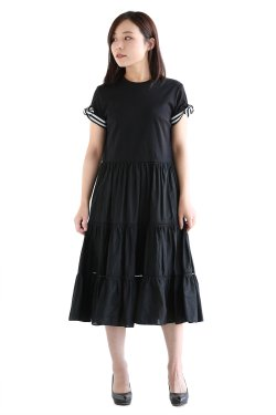 BORDERS at BALCONY(ボーダーズアットバルコニー) BALLERINA TEE DRESS  BLACK