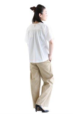 SACRA(サクラ) COTTON LINEN クルーネックTシャツ  WHITE
