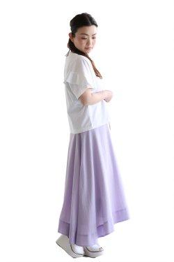SACRA(サクラ) PETAL SLEEVE クルーネックTシャツ  WHITE