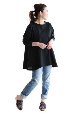 araara(アラアラ) Aラインカットソー  black