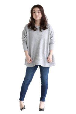 araara(アラアラ) シームデザインプルオーバー  gray