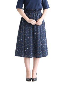 MUVEIL WORK(ミュベールワーク) タイルフラワープリントスカート