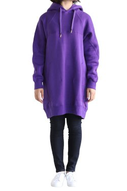 unfil(アンフィル) cotton fleece long hoodie