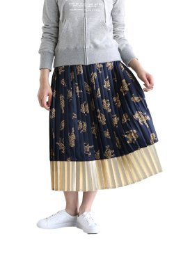 MUVEIL(ミュベール) プリントプリーツスカート