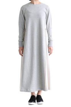 MOOLA(モーラ) バックギャザーロングワンピース  gray