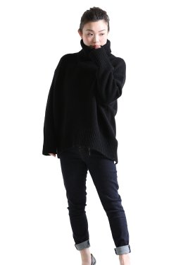 GALERIE VIE(ギャルリィヴィ) ファインウールハイネックプルオーバー  ブラック