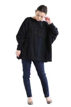 araara(アラアラ) 刺繍オーバープルオーバー  black