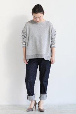 araara(アラアラ) ケーブル裏毛ドッキングプルオーバー  gray