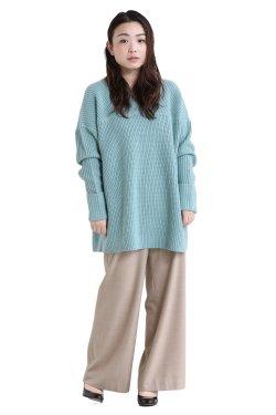 araara(アラアラ) 畦編み2wayプルオーバー  blue