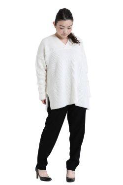 araara(アラアラ) 畦編み2wayプルオーバー  white