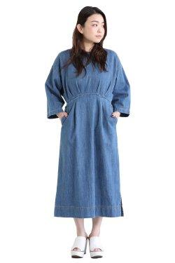 MUVEIL(ミュベール) デニムサックスワンピース  blue
