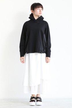 araara(アラアラ) ギャザードッキングパーカー  black