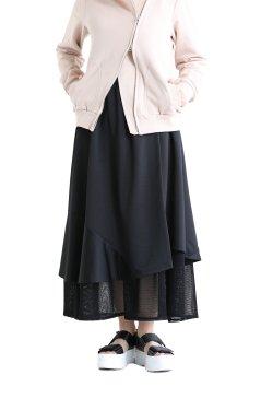 MOOLA(モーラ) メッシュドッキングスカート  black