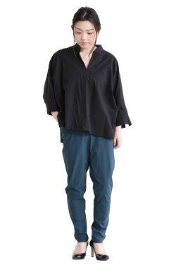 SIWALY(シワリー) ショートPOシャツ black
