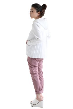 araara(アラアラ) ハイストレッチヤーンパーカー  white