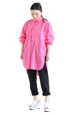 MACPHEE(マカフィ) TYPEWRITER PIECE DYE チュニックシャツ  ピンク