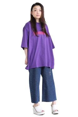 DOUBLE STANDARD CLOTHING(ダブルスタンダードクロージング) ラスティック天竺 ビッグTシャツ  パープル