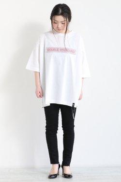 DOUBLE STANDARD CLOTHING(ダブルスタンダードクロージング) ラスティック天竺 ビッグTシャツ  オフ