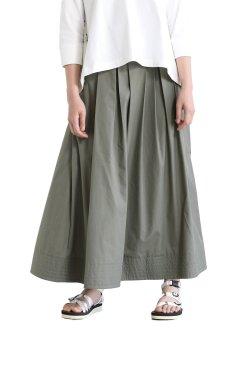 araara(アラアラ) タックボリュームスカート  khaki