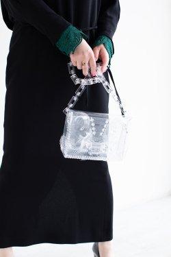 Mame Kurogouchi(マメ) Vinyl Chloride Cloth Chain Bag  CLEAR