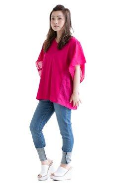 MUVEIL(ミュベール) ハンカチレースプルオーバー  pink