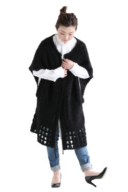 Mame Kurogouchi(マメ) Floral Mohair Knitted Cardigan