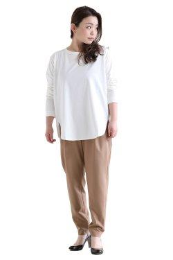 SIWALY(シワリー) round hem pullover  white