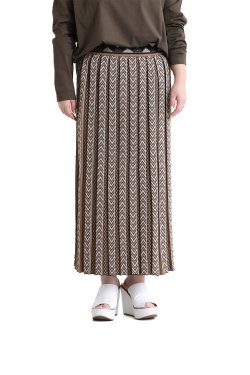 Mame Kurogouchi(マメ) Pleated Knitted Skirt  BEIGE