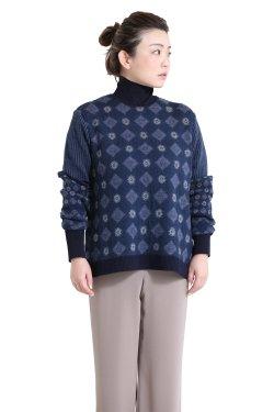Mame Kurogouchi(マメ) Checkered Pattern High Neck Pullover