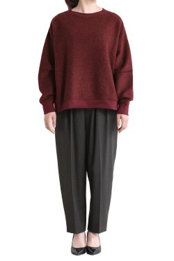 SIWALY(シワリー) wool trainer pullover  bordeaux