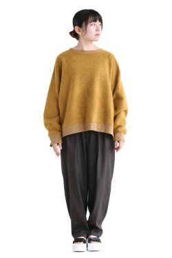 SIWALY(シワリー) wool trainer pullover  yellow