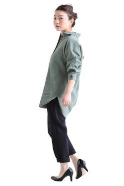 SONO(ソーノ) ミドルレングスナチュラルドライシャツ