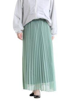 SONO(ソーノ) グラスプリーツロングスカート  GREEN