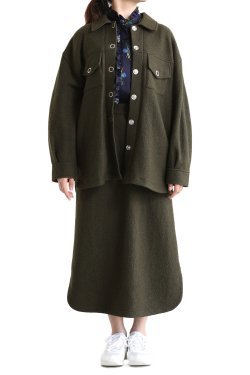 MUVEIL(ミュベール) ウールジャケット khaki