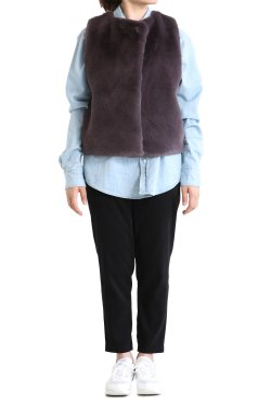 ADAWAS(アダワス) ECO FUR VEST  MULBERRY