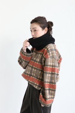unfil(アンフィル) cashmere neck warmer  black