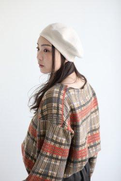 unfil(アンフィル) cashmere knit beret  ecru