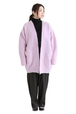 unfil(アンフィル) stretch superkid mohair cardigan