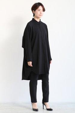 SIWALY(シワリー) back gather long shirt  black