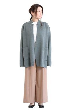 unfil(アンフィル) baby alpaca milanoribbed-knit jacket