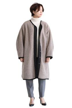 SIWALY(シワリー) reversible coat  black