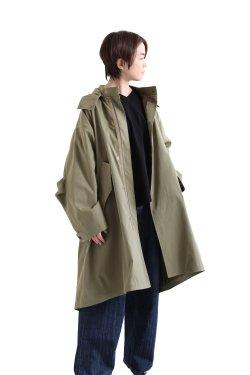SIWALY(シワリー) poly mods coat  khaki