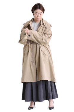 SIWALY(シワリー) poly mods coat  beige