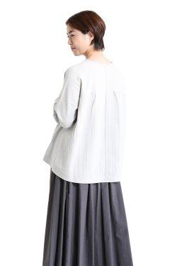 araara(アラアラ) Pleats A-line knit  lightgray