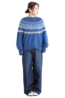 Mame Kurogouchi(マメ) Cotton Nordic Knit Pullover