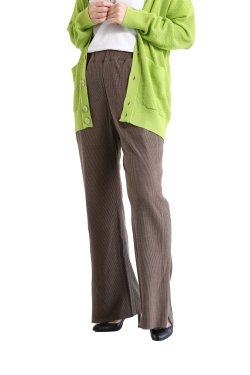 unfil(アンフィル)  raw silk ribbed-jersey pants